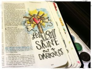 This page, done by journaler and blogger Stephanie Ackerman, is representative of the journaling being done by people worldwide as they seek a closer relationship with God.